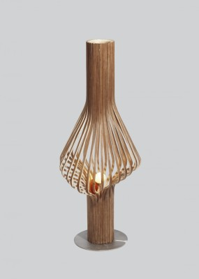 Diva Floor Lamp Walnut