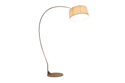 Divina Arco Floor Lamp Glossy White, White Plissé