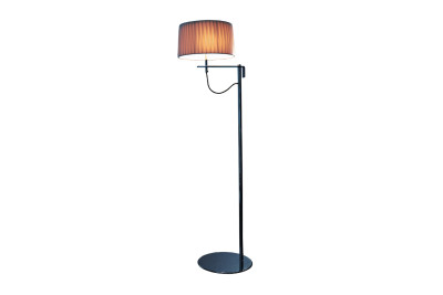 Divina Floor Lamp Medium White plissé