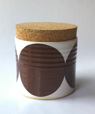 Dot Pot with Large Lid Brown