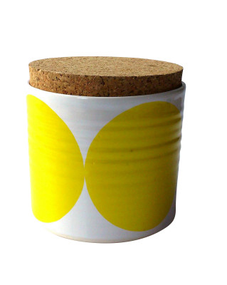 Dot Pot with Large Lid Yellow