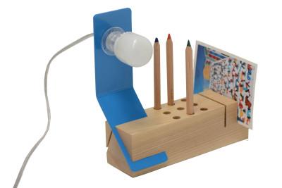 Edi Desk Lamp Blue, Ash