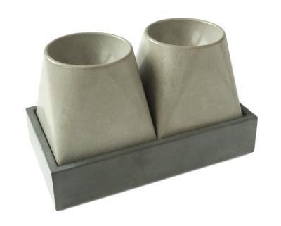 Eggfactory Concrete Egg Cup 2, Short