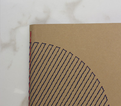 EMBROIDERED NOTEBOOK | BLUE | POCKET SIZE