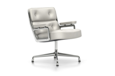 ES 105 Lobby Chair - Swivel, With Armrests 04 glides for carpet, Leather 72 snow