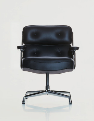 ES 108 Lobby Chair Leather, glides for carpet