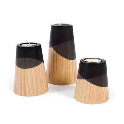 Etna Mini Candle Holders Black