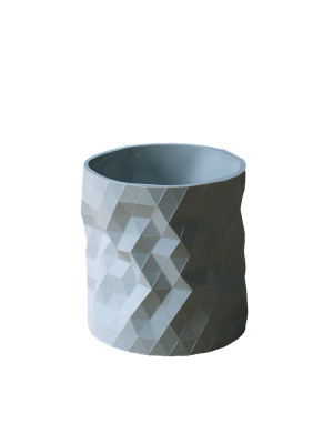 Faceture Planter / Short Vase Mid Grey