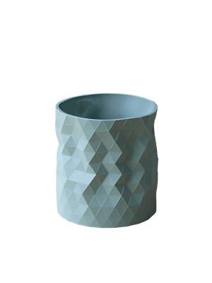 Faceture Planter / Short Vase Sage
