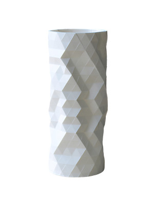 Faceture Straight Tall Vase White