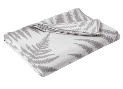Fernature Merino Throw Pure White and Silver Grey