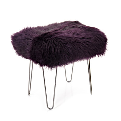 Ffion Baa Stool  Aubergine