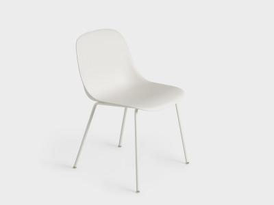 Fiber Side Chair Tube Base White/White