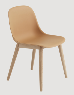 Fiber Side Chair Wood Base Oak/Nature