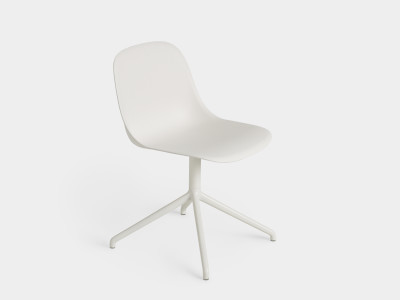 Fiber Side Swivel Chair Without Return - Non Upholstered Natural White / White