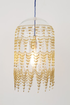 Fibula Lux Large Pendant Light Brass