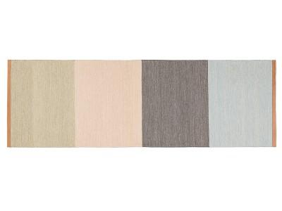 Fields Long Rug Beige/pink/brown/blue, 80×250 cm