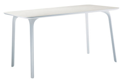 First Table - Rectangular White Legs and Top, 80 x 140 cm