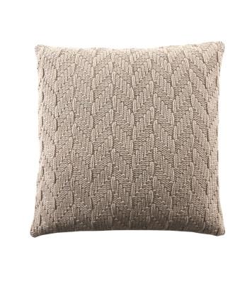 Fishbone Cushion Beige