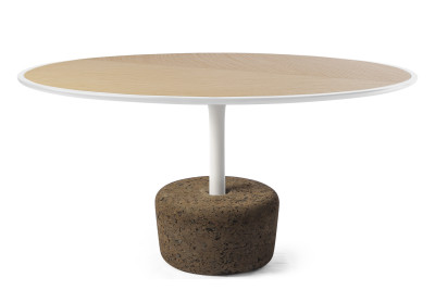 Flora Wide Coffee Table  Cold White, Tall