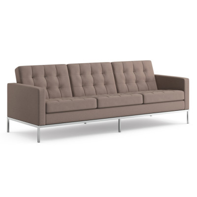 Florence Knoll 3 Seater Sofa Satin Chrome, Lucca Civitali LC2414