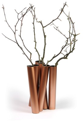"Flower vase ""Sextette"" Copper"