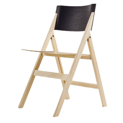 Folding Chair Black Backrest
