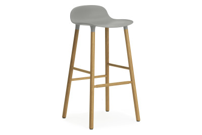 Form Bar Stool Grey & Oak - 75cm seat