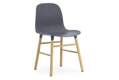 Form Chair Oak, Blue