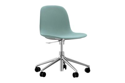 Form Swivel Chair 5W Gaslift - Fully Upholstered Fame 60078, NC Aluminium