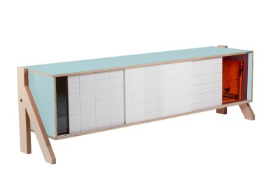 Frame 01 Mid Sideboard Butterfly Blue