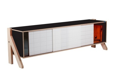 Frame Sideboard 01 Mid - Inky Black
