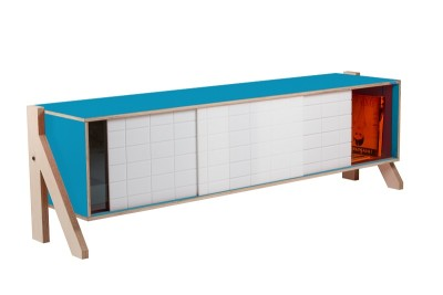 Frame Sideboard 01 Mid - Iris Blue