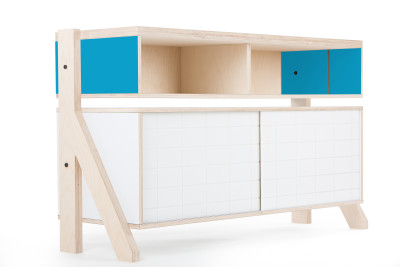 Frame Sideboard 02 Small - Iris Blue