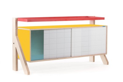 Frame Sideboard 03 Small - Canary Yellow