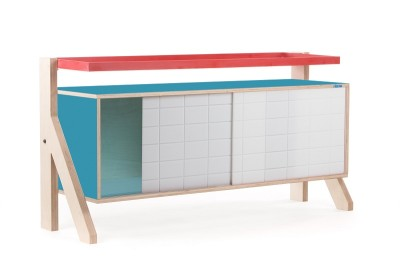 Frame Sideboard 03 Small - Stone Blue Grey