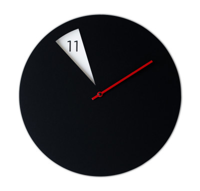 Freakish Wall Clock Black / Red