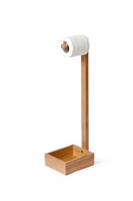 Freestanding toilet roll holder Bamboo