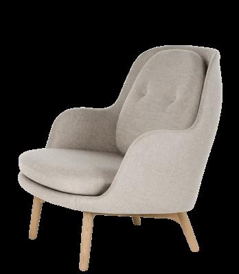 Fri Easy Chair with Wooden Base Sunniva 2 242