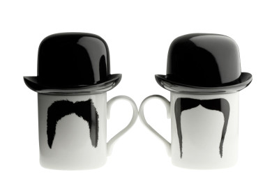 Fu Magnum Moustache Mug with Sugar Bowl Top Hat