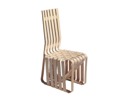 Gehry High Sticking Chair white maple veneer strips