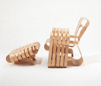 Gehry Power Play Club Chair with Ottoman