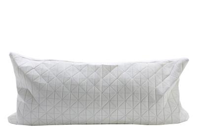 Geo Origami Rectangular Cushion Cover White
