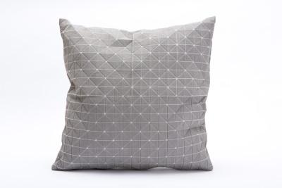 Geo Origami Square Cushion Cover Grey