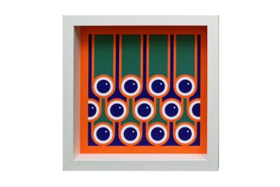 Giclee Art Print Blueberries & Stripes