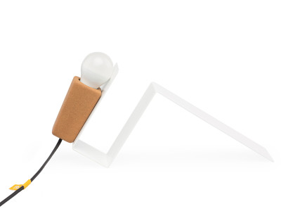 Glint #1 Desk Lamp White with Black Cable