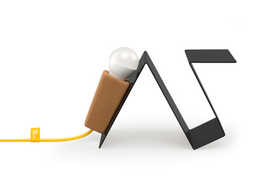 Glint #3 Desk Lamp Black with Yellow Cable