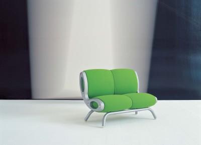 Gluon 2 Seater Sofa B0211 - Leather Oil cirè