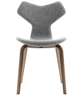 Gran Prix Wooden Legged Chair - Fully Upholstered Canvas 124