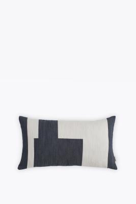 Graphic Rectangular Cushion Marine Blue